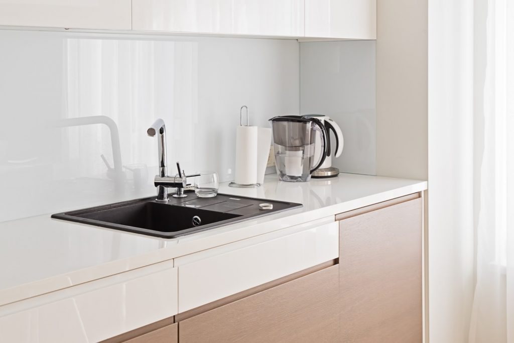 reflective or high gloss surfaces